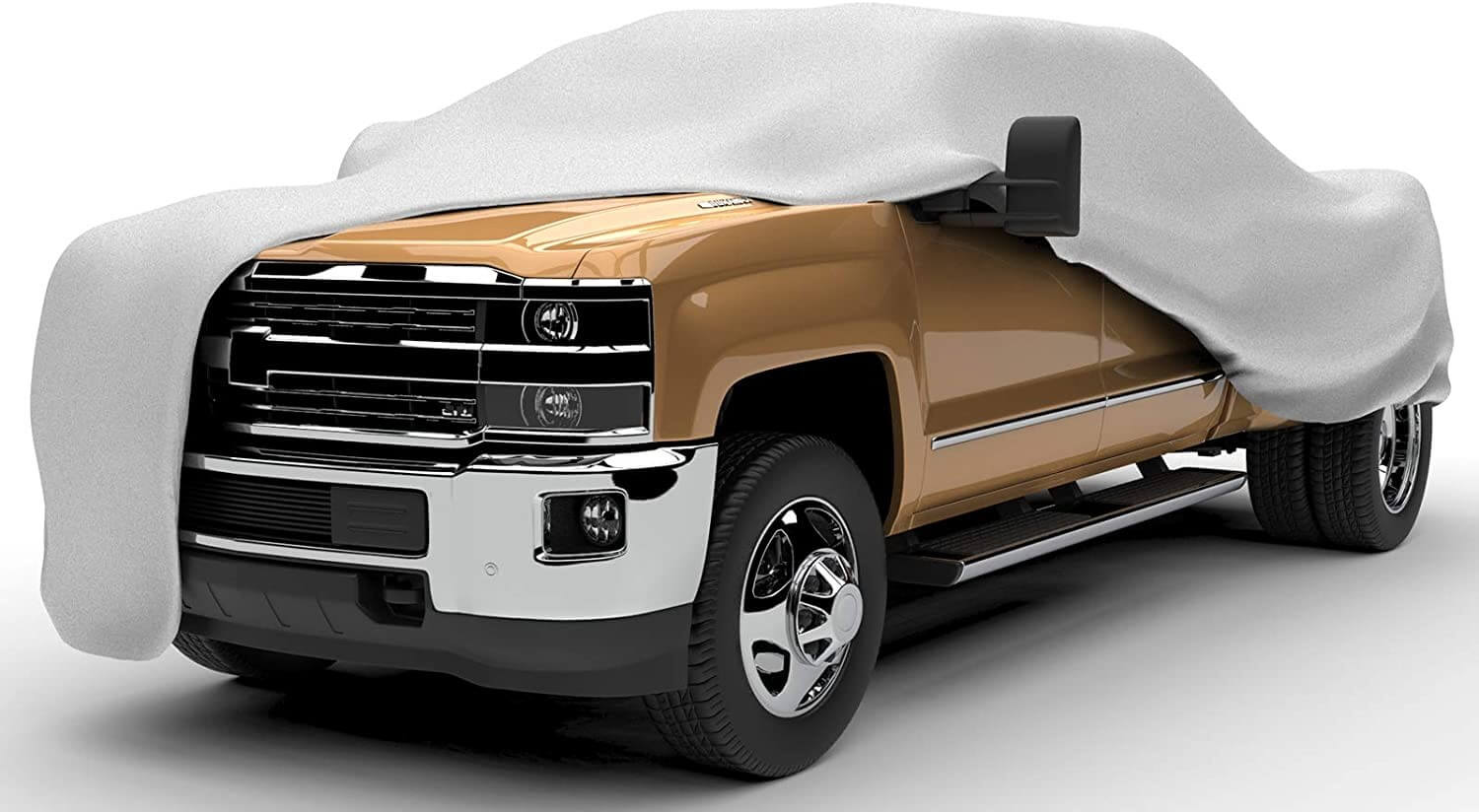 TD-4 Polypropylene, Gray Budge Duro Truck Cover Fits Trucks with Standard Cab Long Bed Pickups up to 228 inches